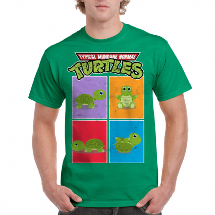 TMNT Typical Mundane Normal Turles Green Distressed T-shirt
